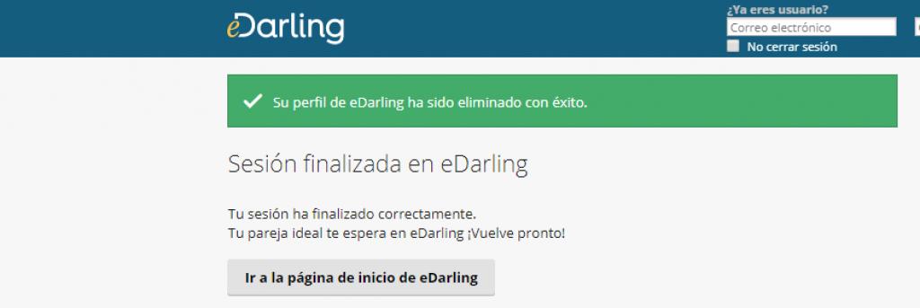 Como eliminar mi cuenta de E-darling- paso 6