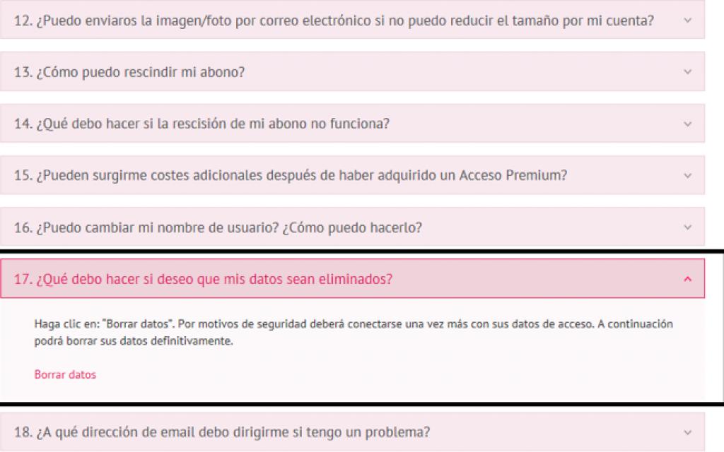 Como Eliminar cuenta, perfil cancelar registro borrarme de Encuentroadulto paso 3
