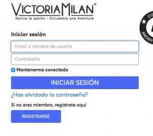 Como Eliminar cuenta, perfil cancelar registro borrarme de Victoria Milan paso 1