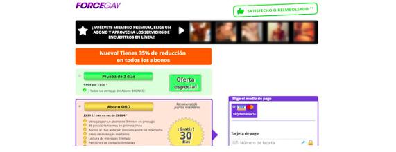 crear cuenta , iniciar sesión, reclamos quejas opiniones comentarios os precios, funciones , servicio a el cliente de Forcegay.com 1